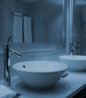 Faucets, washbasins and sinks